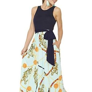 Women's Maxi Dress Floral Printed Spring